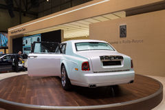 2015 Rolls-Royce Phantom Serenity. Geneva, Switzerland - March 4, 2015: 2015 Rolls-Royce Phantom Serenity presented on the 85th International Geneva Motor Show Stock Images