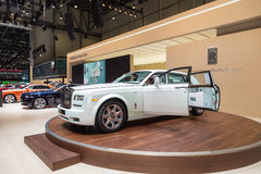 2015 Rolls-Royce Phantom Serenity. Geneva, Switzerland - March 4, 2015: 2015 Rolls-Royce Phantom Serenity presented on the 85th International Geneva Motor Show Stock Image
