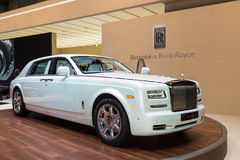 2015 Rolls-Royce Phantom Serenity. Geneva, Switzerland - March 4, 2015: 2015 Rolls-Royce Phantom Serenity presented on the 85th International Geneva Motor Show Stock Photos