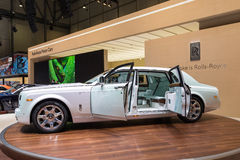 2015 Rolls-Royce Phantom Serenity. Geneva, Switzerland - March 4, 2015: 2015 Rolls-Royce Phantom Serenity presented on the 85th International Geneva Motor Show Royalty Free Stock Image