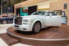 2015 Rolls-Royce Phantom Serenity. Geneva, Switzerland - March 4, 2015: 2015 Rolls-Royce Phantom Serenity presented on the 85th International Geneva Motor Show Stock Photo