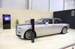 2018 Rolls-Royce Phantom an SIAB, Romexpo, Bukarest, Rumänien lizenzfreie stockfotografie