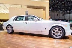 Rolls-Royce Phantom spokój, Motorowy przedstawienie Geneve 201 Zdjęcia Royalty Free