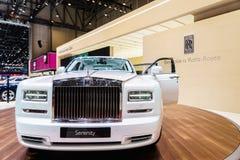 Rolls-Royce Phantom spokój, Motorowy przedstawienie Geneve 201 Fotografia Stock