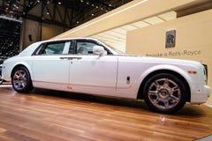 Rolls-Royce Phantom spokój, Motorowy przedstawienie Genewa 201 Obrazy Royalty Free