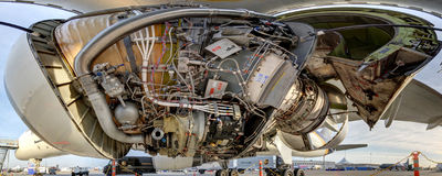 Rolls-Royce RB211-535E4 engine Stock Image