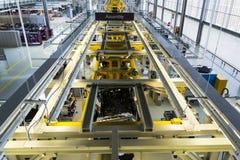 Rolls Royce samochodów stojak na linii produkcyjnej w Goodwood fabryce Zdjęcia Royalty Free