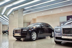 Rolls-Royce showroom in Beijing, China Royalty Free Stock Images