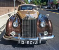 Rolls Royce Silver Cloud II. Claremont, USA - September 24, 2017: A 1962 Rolls Royce Silver Cloud II parked curbside on a Sunday afternoon in the Claremont Royalty Free Stock Photos