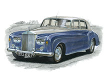 Rolls Royce Silver Cloud III. Illustration of a Rolls Royce Silver Cloud 3 vector illustration