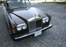 Rolls-Royce Silver Shadow II Front View Royalty Free Stock Photos