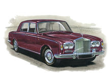 Rolls Royce Silver Shadow. Illustration of a Rolls Royce Silver Shadow royalty free illustration