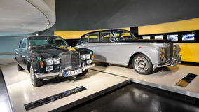 Rolls-Royce Silver Shadow and Phantom on display at BMW Museum Stock Images