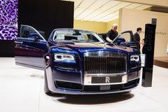 Rolls Royce spöke, Genève 2015 för motorisk show Arkivfoto
