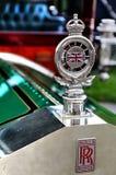 1907 Rolls Royce srebra ducha sedanu kapiszonu Krajoznawczy ornament Zdjęcia Royalty Free