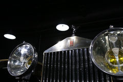 Rolls Royce Symbol. Of an retro model, is on display in a private collection in Bucharest, Romania stock photos