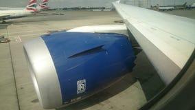 Rolls royce 1000 trent em um dreamliner dos VAGABUNDOS 787 Fotografia de Stock