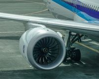 Rolls-Royce Trent 1000 engine stock image