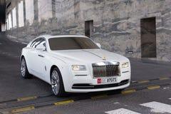 Rolls Royce vålnad i Abu Dhabi Royaltyfria Foton