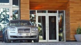 Rolls Royce on the Valet Ramp 4k video stock video footage