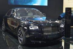 Rolls Royce-Verschijning Zwart Kenteken Royalty-vrije Stock Foto