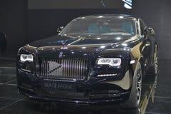 Rolls Royce-Verschijning Zwart Kenteken Stock Afbeelding