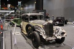 Rolls Royce vieja después del accidente Fotografía de archivo