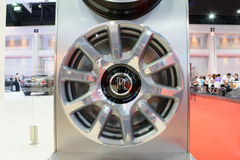 Rolls-Royce wheel in the 36th Bangkok International Motor Show 2015 Stock Images