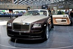 Rolls Royce Wraith 2014. Rolls Royce Wraith at Geneva motor show 2013 Royalty Free Stock Image