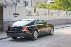 Rolls-Royce Wraith back. Rolls-Royce Wraith Top Class Sedan 2014 Model Royalty Free Stock Photo