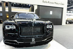 Rolls-Royce Wraith Black Badge. BANGKOK - MARCH 28 : Rolls-Royce Wraith Black Badge on display at The 38th Bangkok International Motor Show : Reach to The Royalty Free Stock Photos