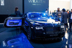 Rolls Royce Wraith Black Badge Edition Royaltyfria Foton