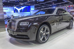 The Rolls Royce Wraith Car. NONTHABURI, THAILAND - APRIL 2:The Rolls Royce Wraith car is on display at the 35th Bangkok International Motor Show 2014 on  April 2 Stock Image