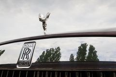 Rolls-Royce Wraith coupe car with Spirit of Ecstasy emblem - the most powerful Rolls-Royce in history. PRAGUE, CZECH REPUBLIC - MAY 20: Rolls-Royce Wraith coupe Royalty Free Stock Photo