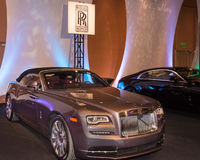 Rolls Royce Wraith. DETROIT, MI/USA - JANUARY 8, 2017: A Rolls Royce Wraith car at The Gallery, an event sponsored by the North American International Auto Show Stock Photos