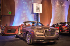 Rolls Royce Wraith. DETROIT, MI/USA - JANUARY 8, 2017: A Rolls Royce Wraith car at The Gallery, an event sponsored by the North American International Auto Show Royalty Free Stock Photography