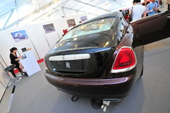 Rolls Royce Wraith on display during Singapore Yacht Show at One Degree 15 Marina Club Sentosa Cove Stock Images
