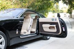 Rolls-Royce Wraith door open Stock Photography