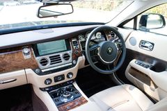 Rolls-Royce Wraith driver room Stock Images