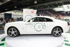 The Rolls Royce Wraith of Dubai Police car is on Dubai Motor Show 2017 Royalty Free Stock Images