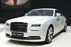 Rolls-Royce Wraith -Inspired by Fashion. Guangzhou, China - November 21, 2015: The Rolls-Royce Wraith -Inspired by Fashion supercar was exhibited in the 13th Stock Photos