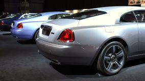 Rolls Royce Wraith luxury coupe stock video footage