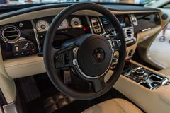 Rolls Royce Wraith Luxury Interiour photo stock