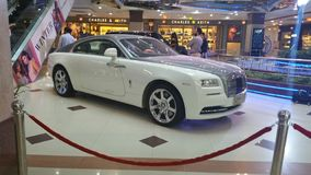 Rolls Royce Wraith in the mall royalty free stock photography