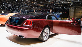 Rolls-Royce Wraith, Motor Show Geneva 2015. Rolls-Royce Wraith at the 85th International Geneva Motor Show in Palexpo, Switzerland Stock Photo