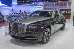 ROLLS ROYCE WRAITH. NONTHABURI, THAILAND - APRIL 2:The Rolls-Royce Wraith is on display at the 35th Bangkok International Motor Show 2014 on  April 2, 2014 in Stock Images