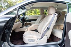 Rolls-Royce Wraith seat. Rolls-Royce Wraith Top Class Sedan 2014 Model Royalty Free Stock Images