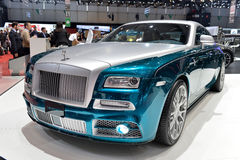 Rolls Royce Wraith styled by Mansory at the Geneva Motor Show. The Rolls Royce Wraith styled by Mansory at the Geneva Motor Show 2014 Stock Photo