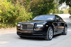 Rolls-Royce Wraith. Top Class Sedan 2014 Model Royalty Free Stock Photos