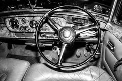 Rolls Roys interior. Interior old car Rolls Royce Stock Image
